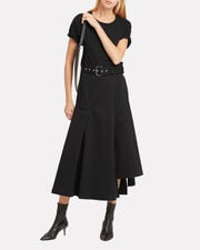 Jersey T-Shirt Dress, BLACK, hi-res