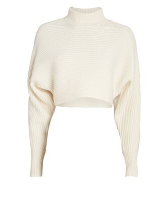 Fay Cropped Turtleneck Sweater, IVORY, hi-res