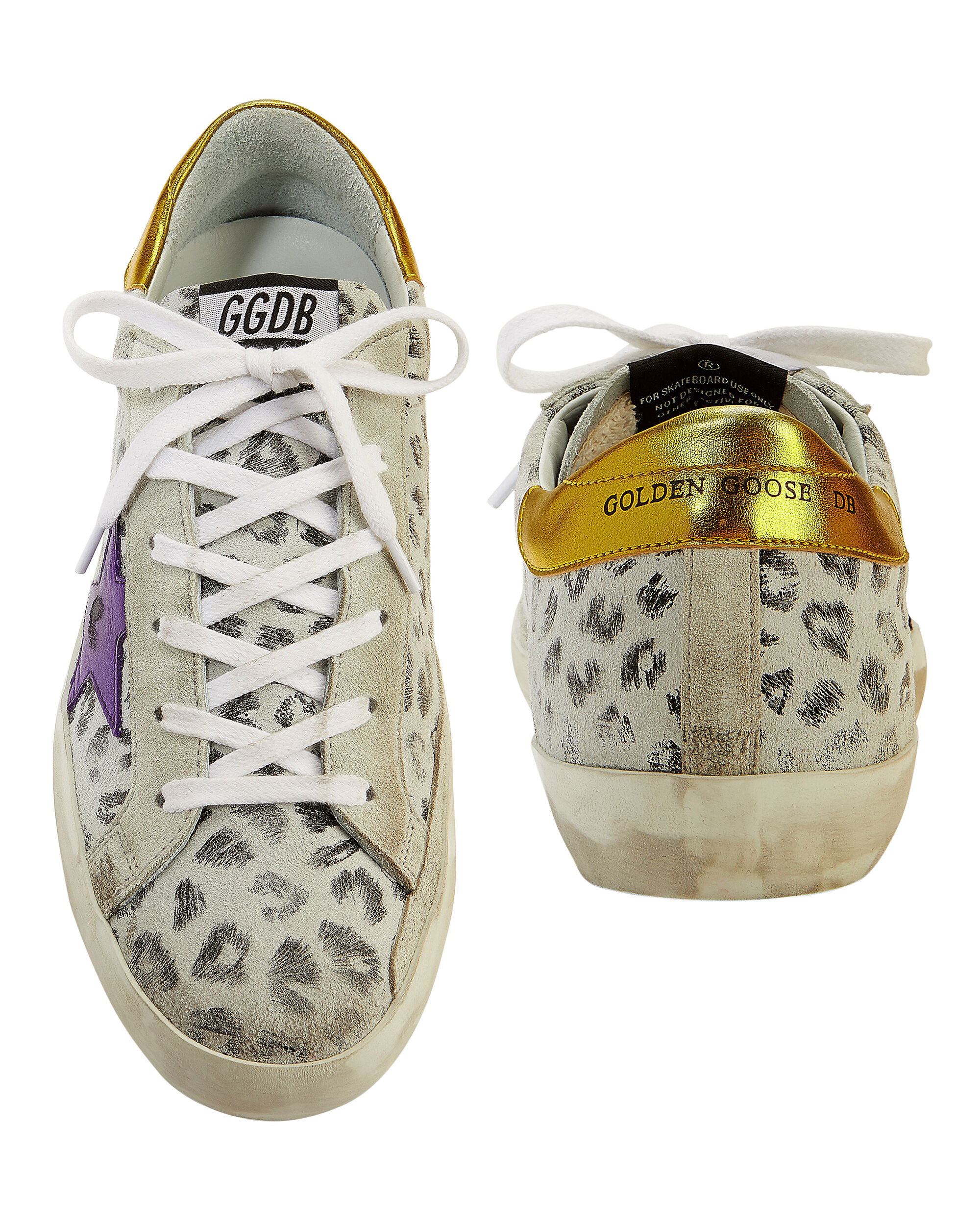 Superstar White Leopard Sneakers, WHITE, hi-res