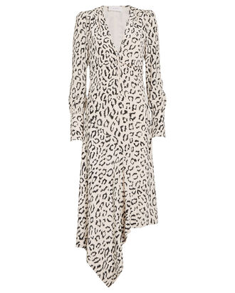 Eden Leopard Zip Front Dress, MULTI, hi-res