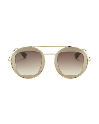 Round Gold Sunglasses, METALLIC, hi-res