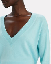 Elroy V-Neck Cashmere Sweater, LIGHT BLUE, hi-res