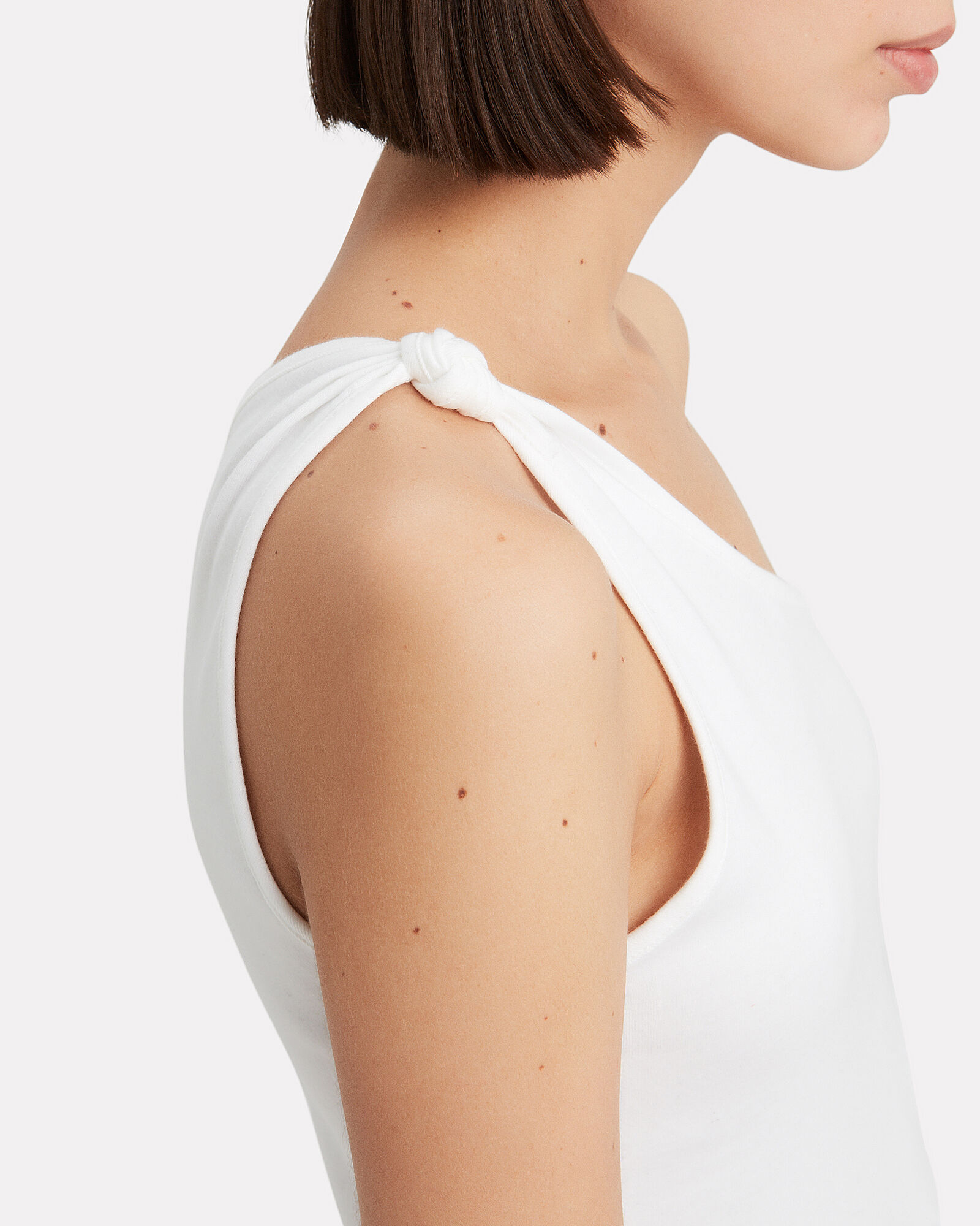 Stark Bare Knot One Shoulder Top, WHITE, hi-res