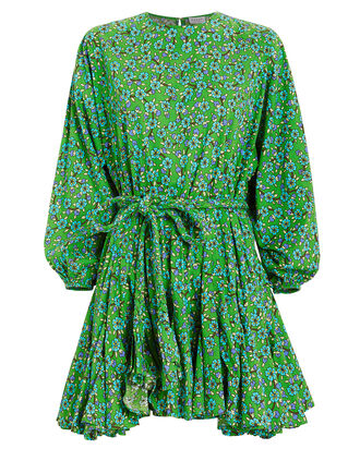Ella Mini Dress, GREEN/WHITE FLORAL, hi-res