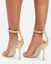 Chaos Python-Embossed Sandals, GOLD, hi-res