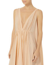 Clemence Deep-V Maxi Dress, PINK, hi-res