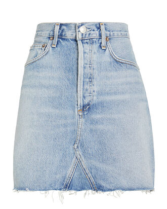 Ada Denim Mini Skirt, DENIM-LT, hi-res