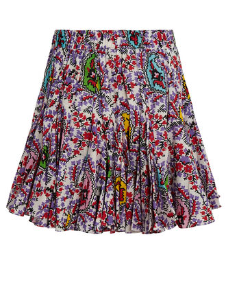 Hilary Paisley Mini Skirt, MULTI, hi-res