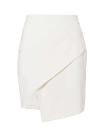 White Wrap Skirt, WHITE, hi-res
