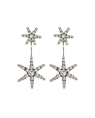 Estee Crystal Drop Earrings, SILVER, hi-res
