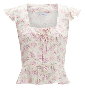 Iris Printed Top, BLUSH, hi-res