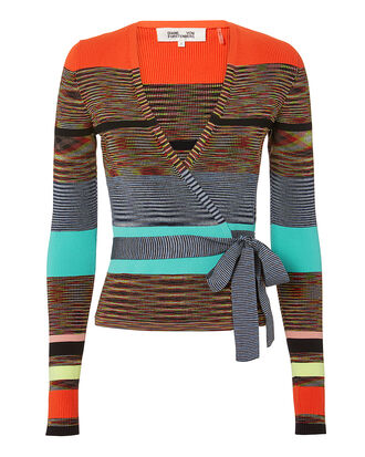Cropped Wrap Sweater, MULTI, hi-res
