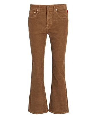 Tracer Cropped Flare Corduroy Pants, CARAMEL, hi-res