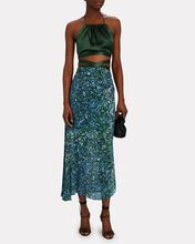 The Wrapped Up Silk Halter Top, GREEN, hi-res