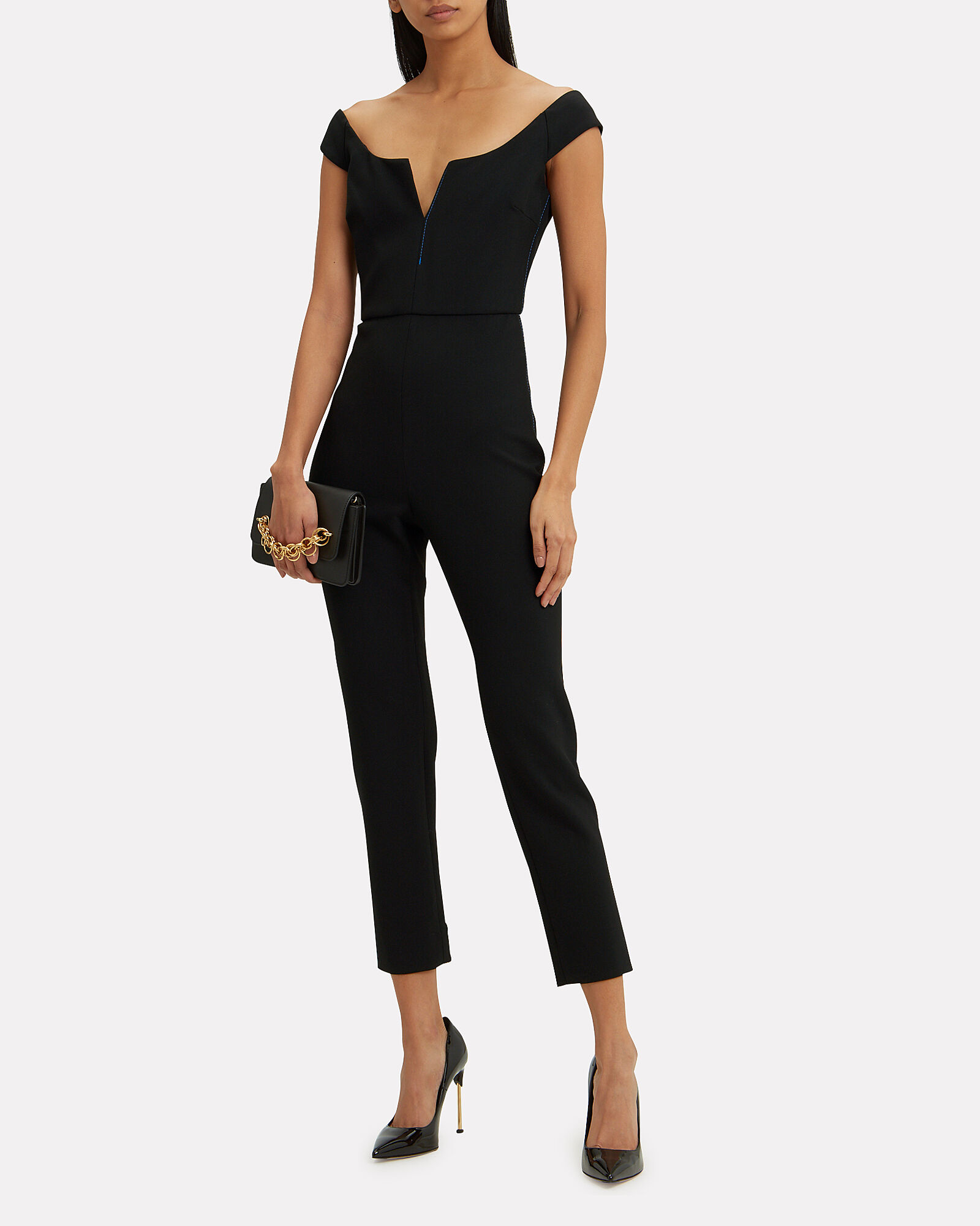 Finn Off-The-Shoulder Jumpsuit, BLACK, hi-res