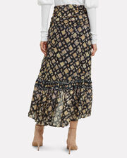 Ailie High-Low Skirt, NAVY, hi-res