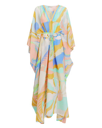 Rivera Silk Kaftan, MULTI, hi-res