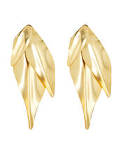 Abstract Drop Earrings, GOLD, hi-res
