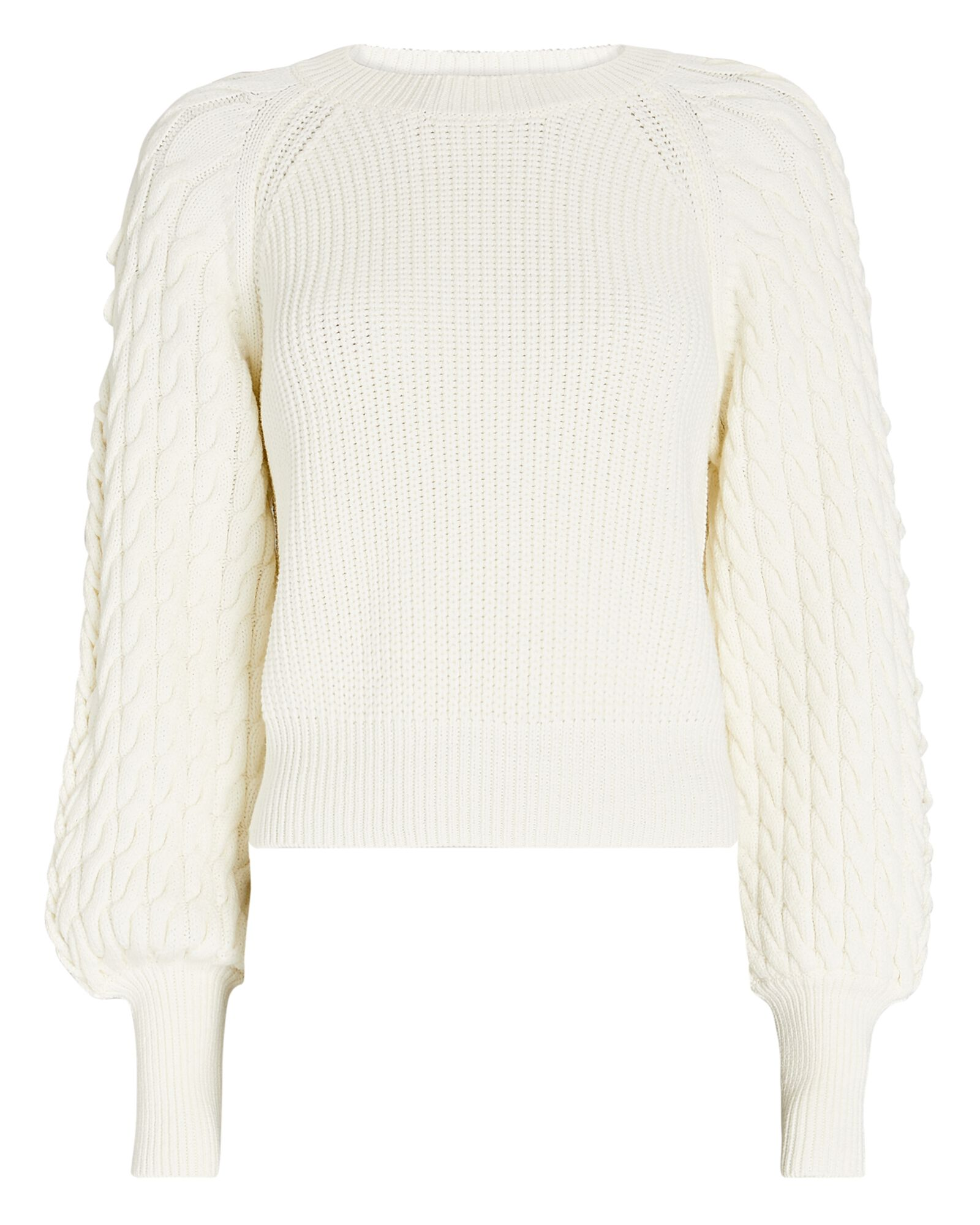 Lula Lace-Up Cable Knit Sweater, IVORY, hi-res