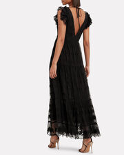 Fifi Tulle Maxi Dress, BLACK, hi-res