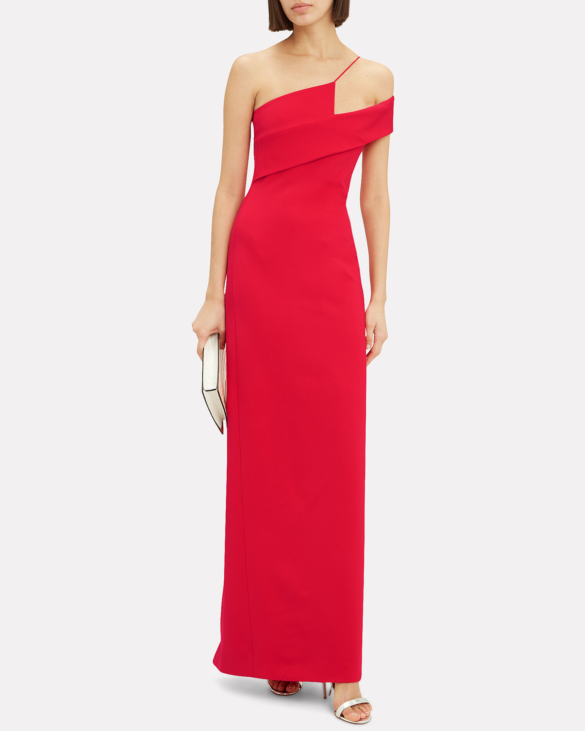 Red Column Gown, RED, hi-res