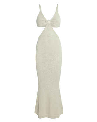 Serita Cut-Out Knit Maxi Dress, WHITE, hi-res