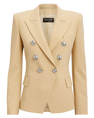 Sable Classic Double-Breasted Blazer, SABLE, hi-res