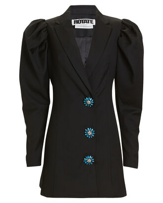 Carol Pirate Blazer Dress, BLACK, hi-res