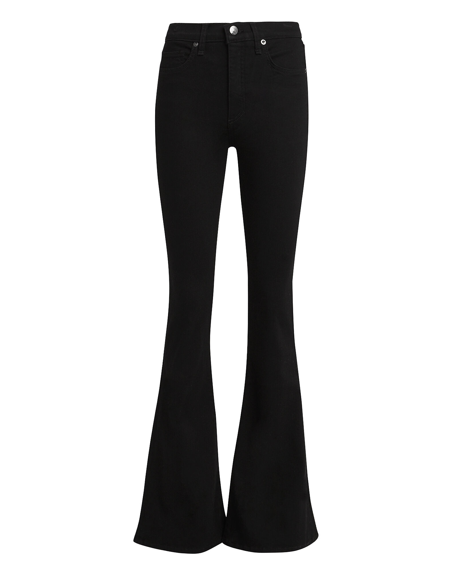 Beverly Flared High-Rise Jeans, BLACK DENIM, hi-res