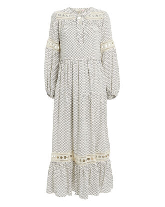 Wibi Peasant Dress, WHITE/PRINT, hi-res
