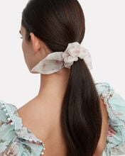 Penny Whisper Hair Scrunchies, WHITE FLORAL/PINK FLORAL, hi-res