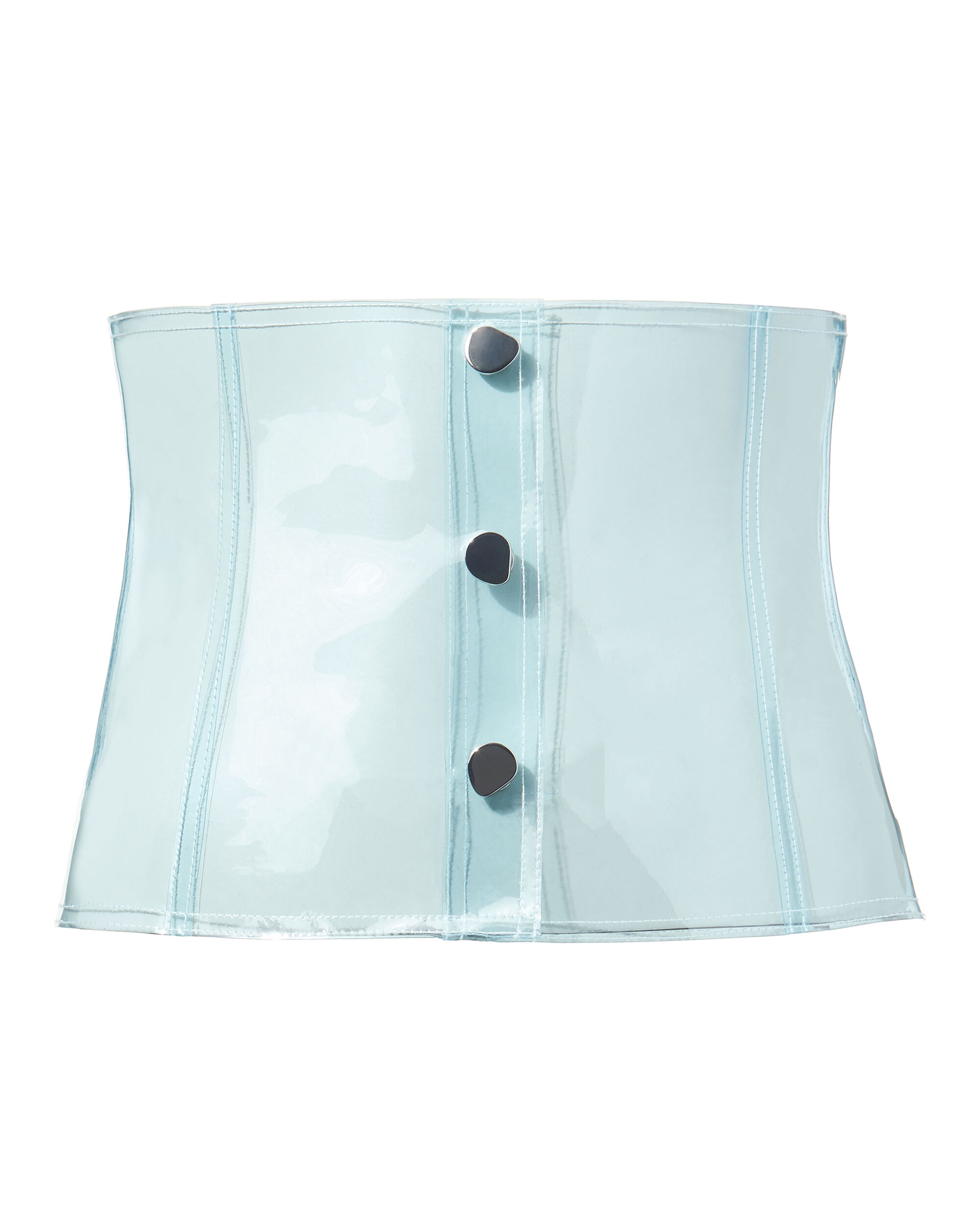 PVC Light Blue Corset Belt, BLUE-LT, hi-res