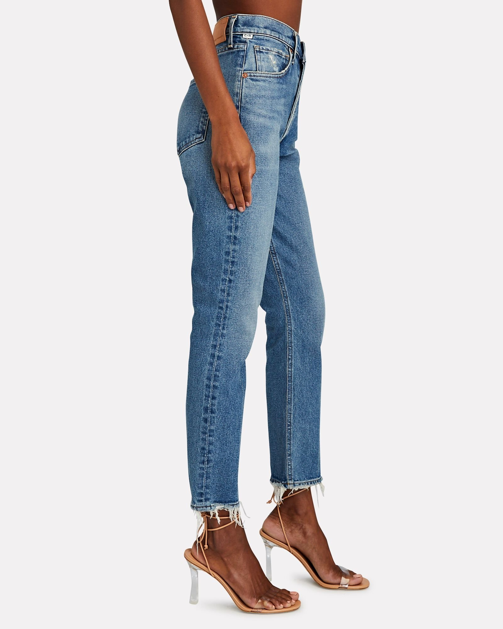 Jolene High-Rise Straight Jeans, DIMPLE, hi-res