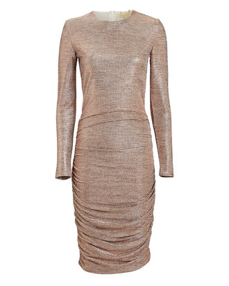 Taylor Metallic Midi Dress, ROSE, hi-res