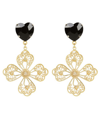 Christelle Earrings, BLACK/GOLD, hi-res