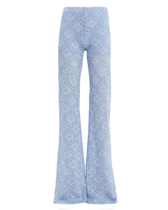 Diamond Lace Bell Light Blue Pants, LIGHT BLUE, hi-res
