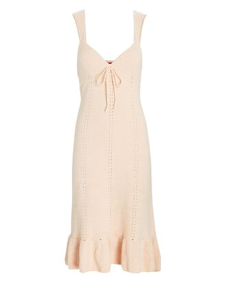 Lulu Pointelle Knit Midi Dress, BLUSH, hi-res