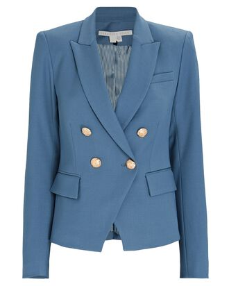 Gail Double-Breasted Blazer, BLUE, hi-res