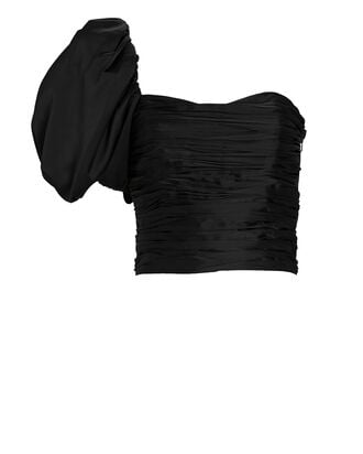 Cher One-Shoulder Top, BLACK, hi-res