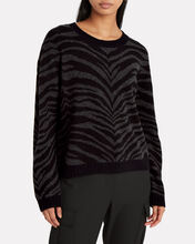 Chance Wool-Cashmere Tiger Sweater, MULTI, hi-res