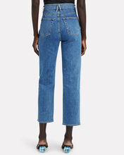 London Cropped High-Rise Jeans, FOREVER BLUE, hi-res