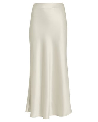 Valletta Satin Midi Skirt, PLATINUM, hi-res