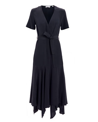 Cora Midnight Navy Wrap Dress, NAVY, hi-res