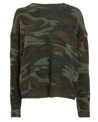 Perci Camo Wool-Alpaca Sweater, OLIVE CAMOUFLAGE, hi-res