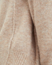 Alpaca & Wool High-Low Sweater, BROWN, hi-res