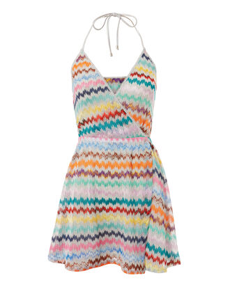 Chevron Halter Mini Dress, MULTI, hi-res