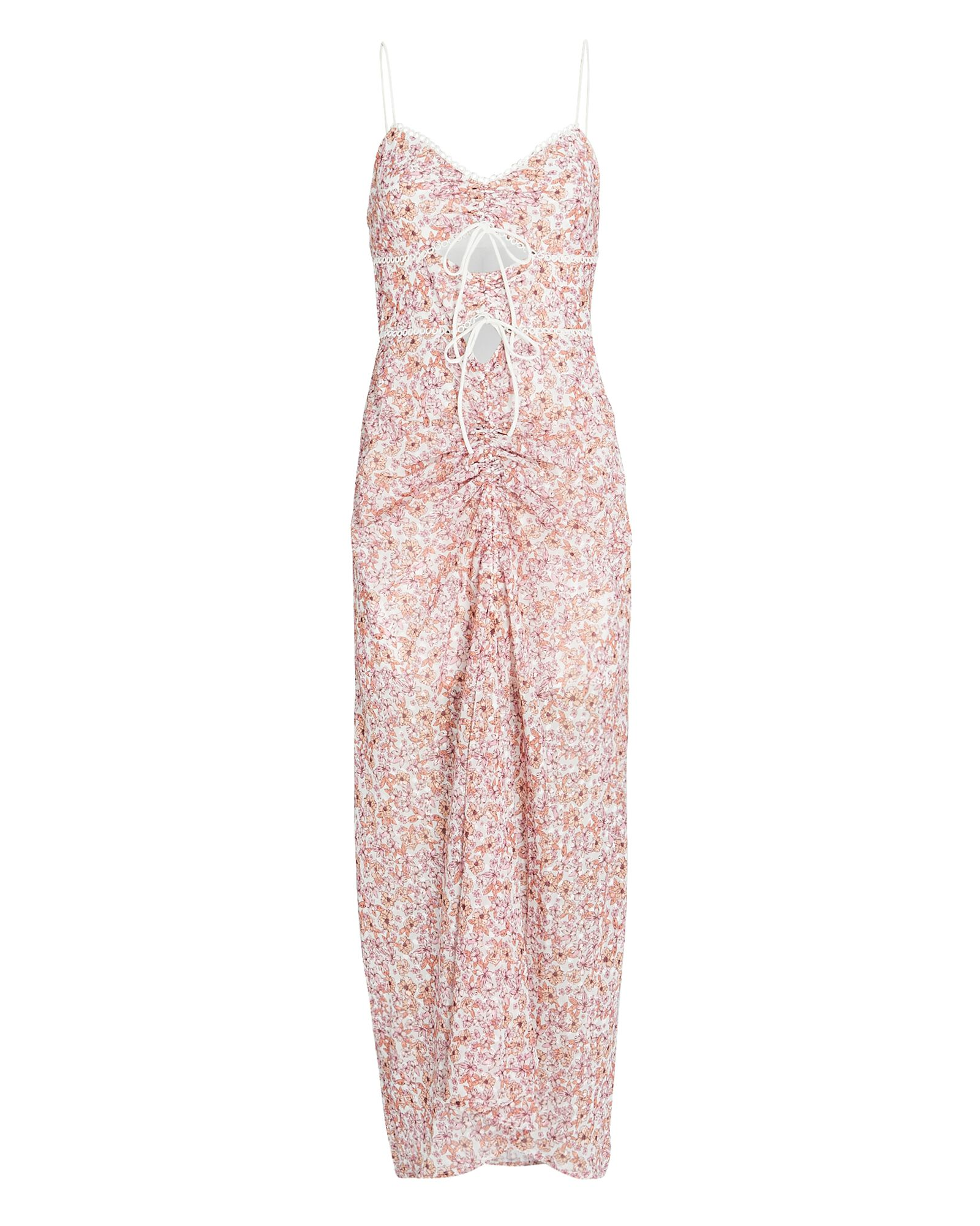 Angelina Floral Cut-Out Midi Dress, MULTI, hi-res
