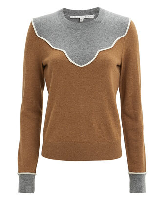 Atty Sweater, CAMEL/GREY, hi-res