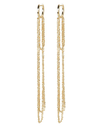 Eunice Chain Earrings, GOLD, hi-res