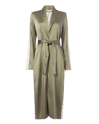 Varsity-Striped Robe, OLIVE/ARMY, hi-res